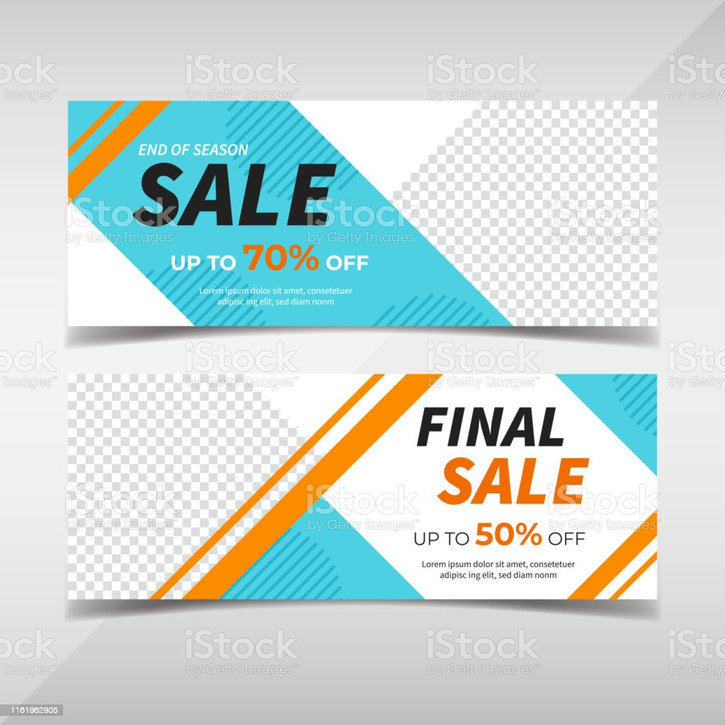 Creative sale and promo discount web banner