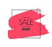 Sale banner design. Vector background
