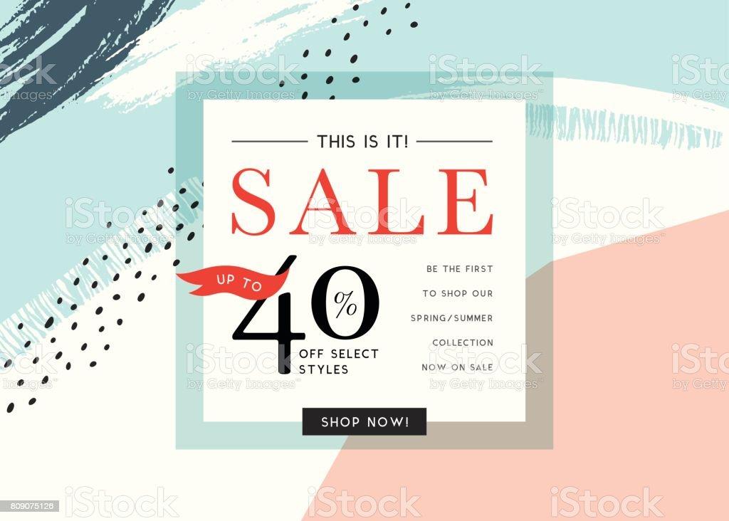 Verkauf-Banner-Design_06 – Vektorgrafik