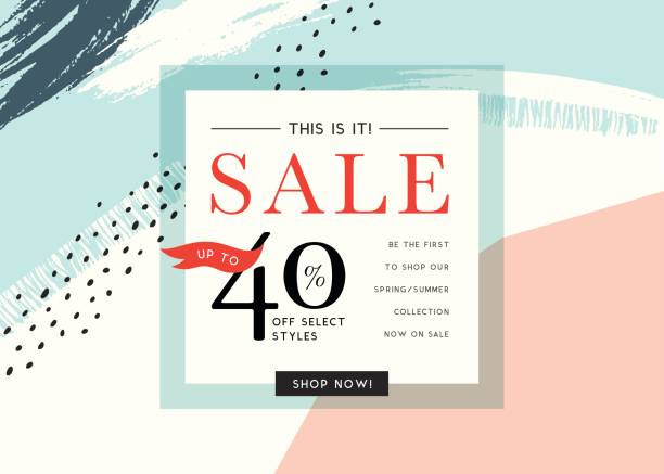 sale banner design_06 - fashion backgrounds stock illustrations, clip art, cartoons, & icons