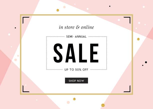 sale banner design_09 - fashion backgrounds stock illustrations, clip art, cartoons, & icons