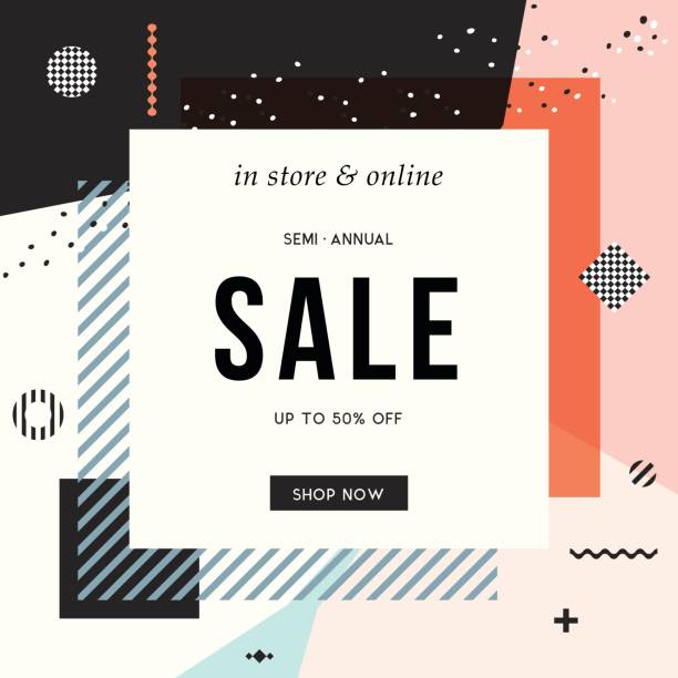 sale banner design_19 - fashion backgrounds stock illustrations, clip art, cartoons, & icons