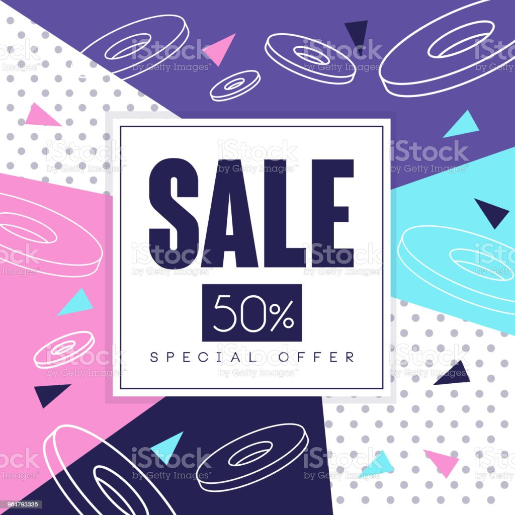 Sale banner, special offer 50 percent off, seasonal discount, advertising element vector Illustration royalty-free sale banner special offer 50 percent off seasonal discount advertising element vector illustration stock vector art & more images of advertisement