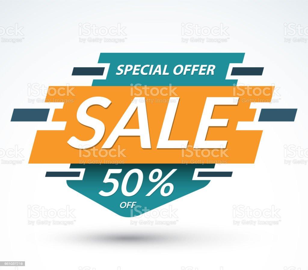 Verkaufbanner Sonderangebotkonzept Rabattlabel Beste Angebot Vorlage