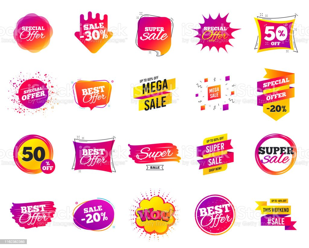 Sale Banner Special Offer Template Tags Cyber Monday Sale Discounts Black Friday Shopping Icons Vector Stock Illustration Download Image Now Istock