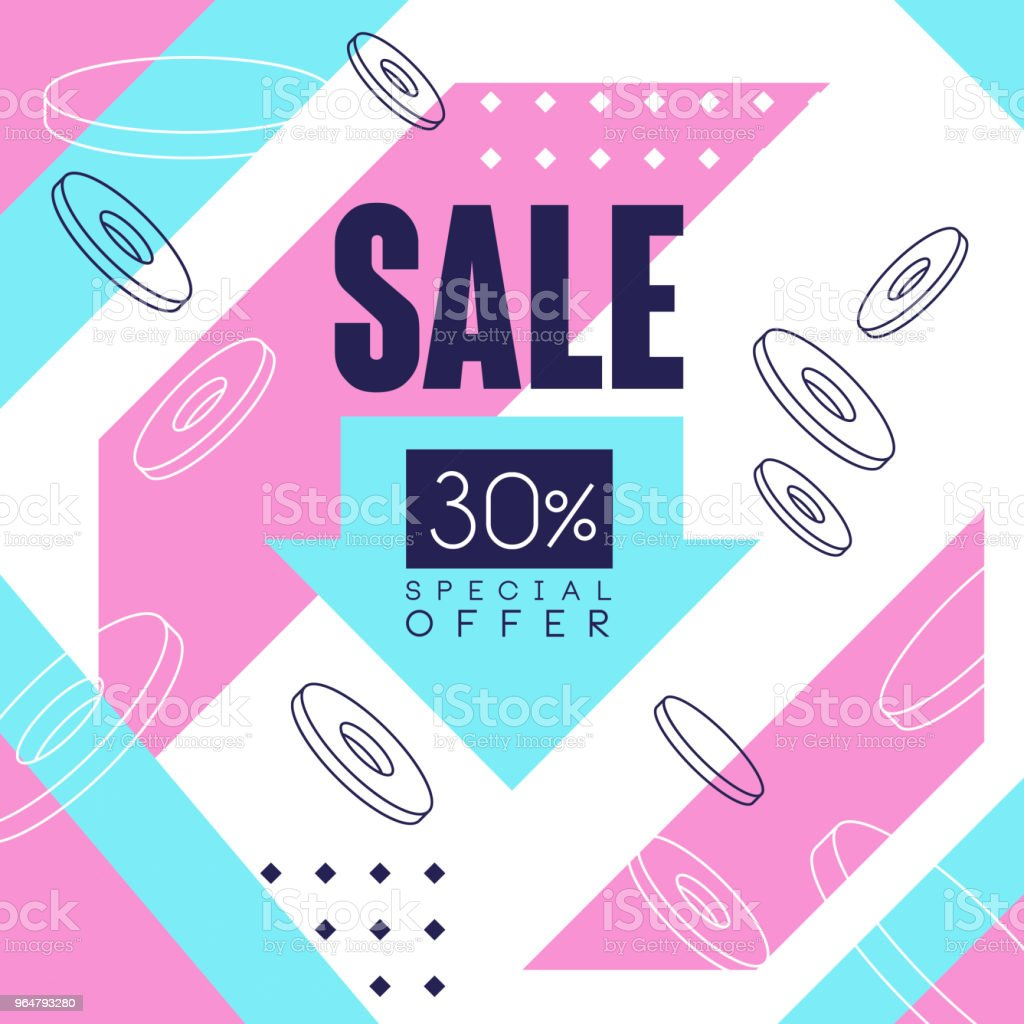 Sale banner, special offer up to 30 percent off, seasonal discount, advertising element vector Illustration royalty-free sale banner special offer up to 30 percent off seasonal discount advertising element vector illustration stock vector art & more images of advertisement