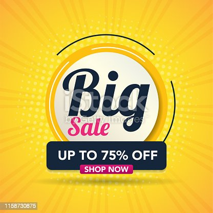 Sale banner template background, Big sale special offer. end of season super sale banner. big promotion, modern sale design. vector illustration.