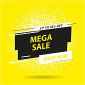 Sale banner template design, Big sale special offer. end of season special offer banner. vector illustration