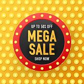 Sale banner template design, Big sale special offer. Sale banner template design, Mega sale special offer. Vector stock illustration.
