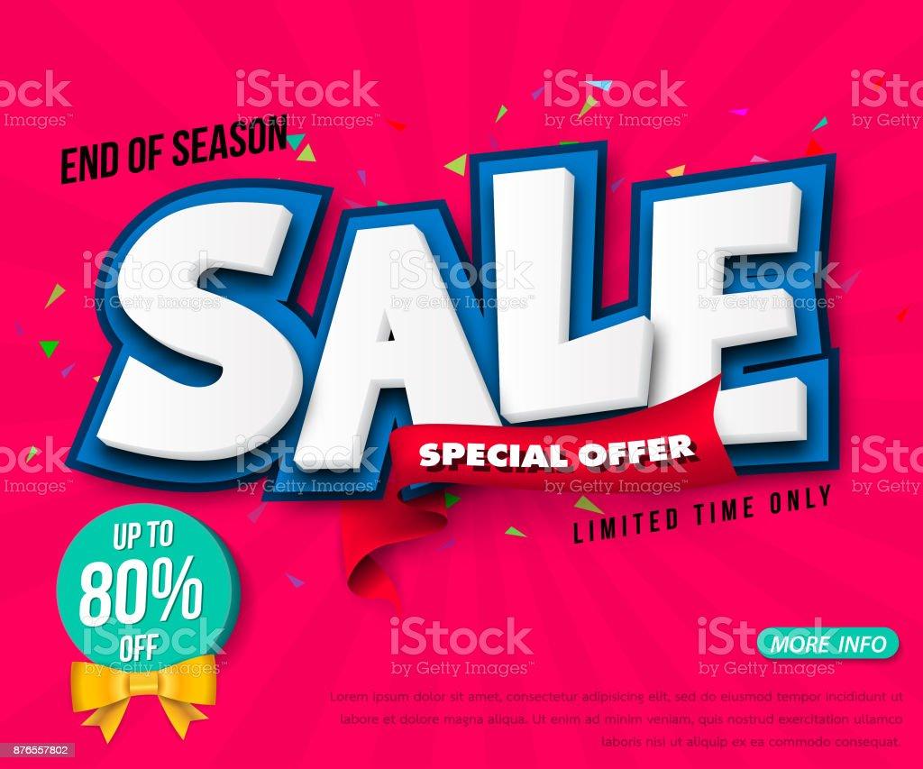 Sale banner template design, Big sale special up to 80% off. Super...