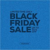 Sale Banner Template Design, Black Friday Sale. Vector illustration