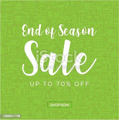 Sale Banner Template Design, End of Season Sale. Vector illustration
