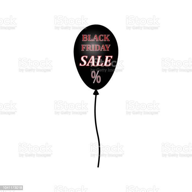 Ilustración de Venta Banner Plantilla Diseño Icono De Etiqueta De Precio Venta De Viernes Negro Globo Negro y más Vectores Libres de Derechos de Black Friday