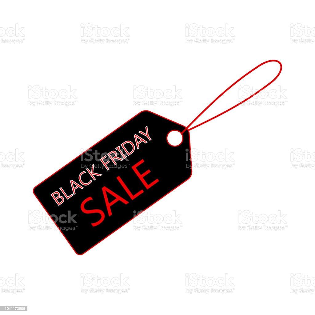 Venta banner plantilla diseño, icono de etiqueta de precio. Venta viernes negro - arte vectorial de Black Friday libre de derechos