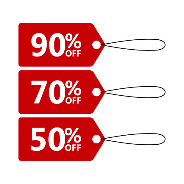 sale banner template design price tag icon discount stickers with