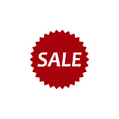 Sale banner template design, price tag icon. discount stickers with percentage