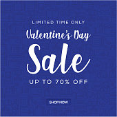 Sale Banner Template Design, Valentine's Day Sale. Vector illustration