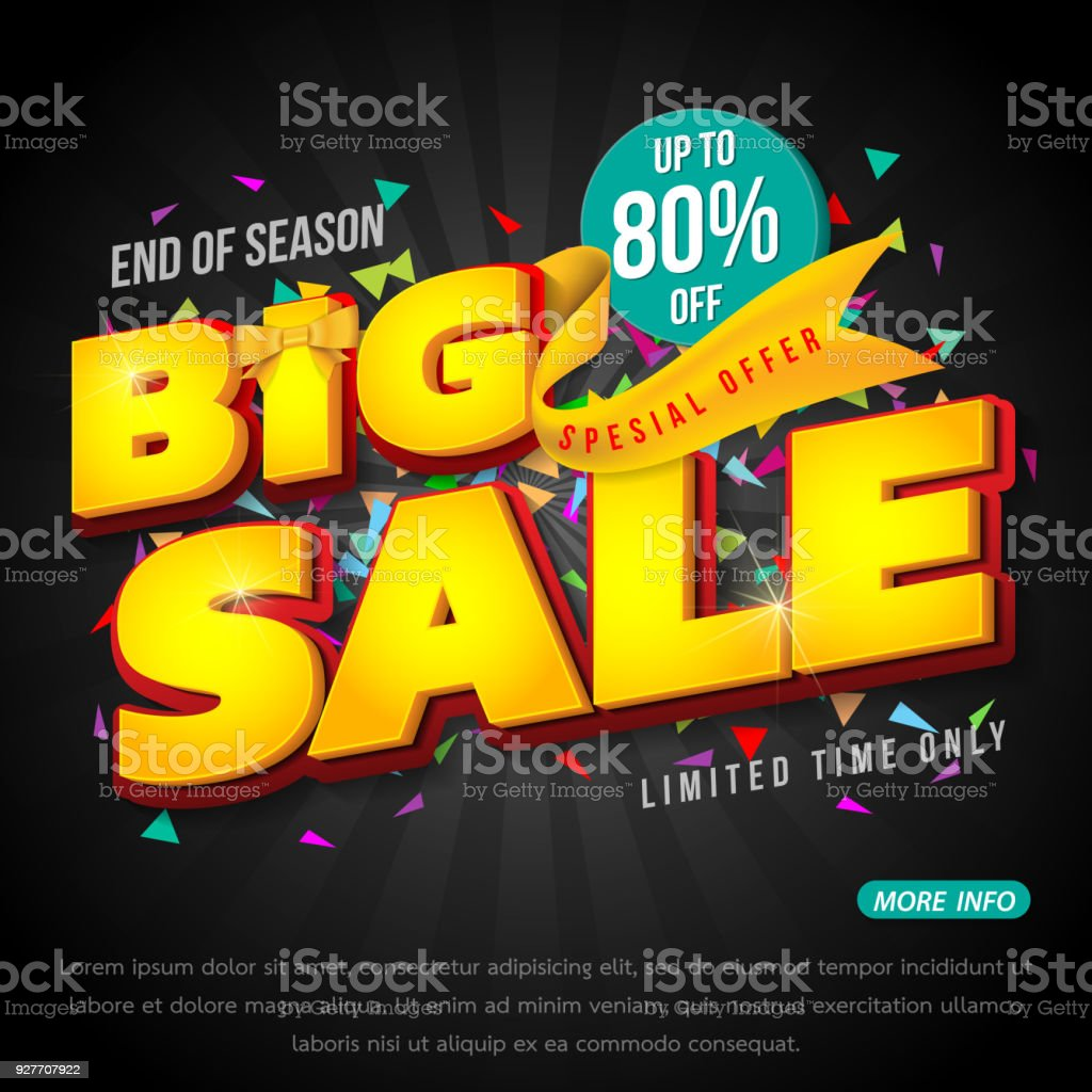 Sale banner template design vector art illustration