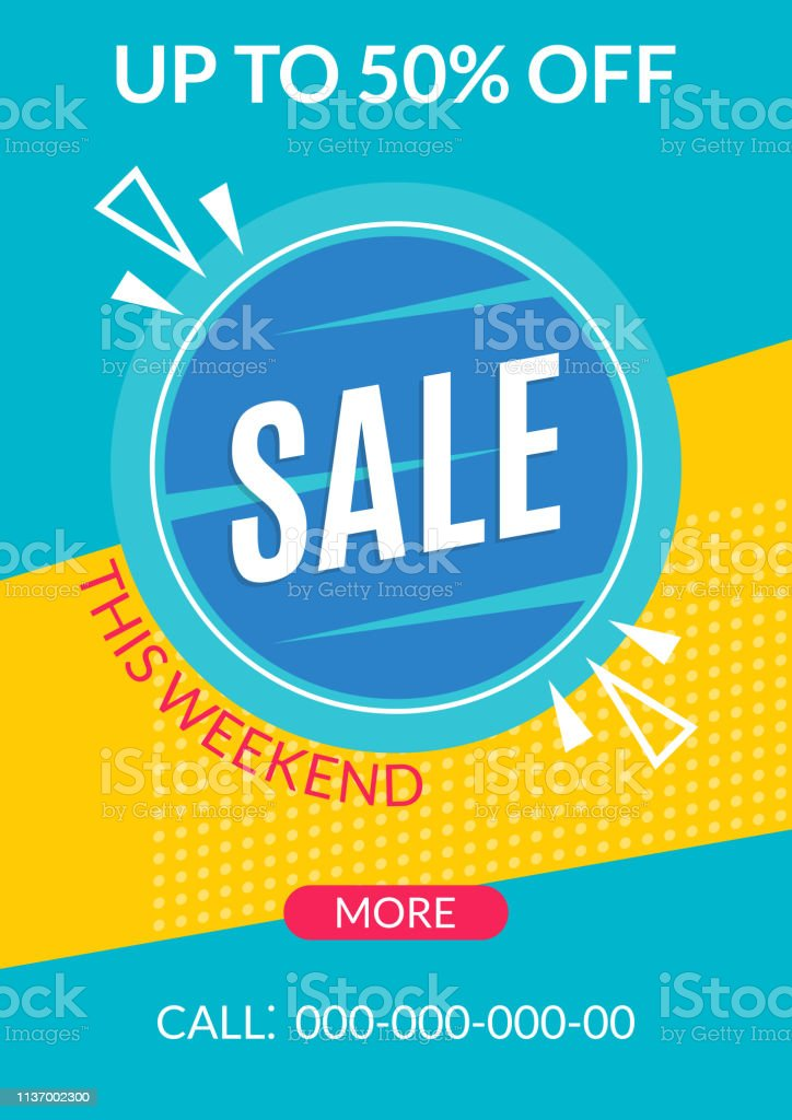 sale banner template discount flyer or poster special offer and price off coupon for clearance