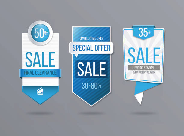 sale banner template - pricing infographics stock illustrations, clip art, cartoons, & icons