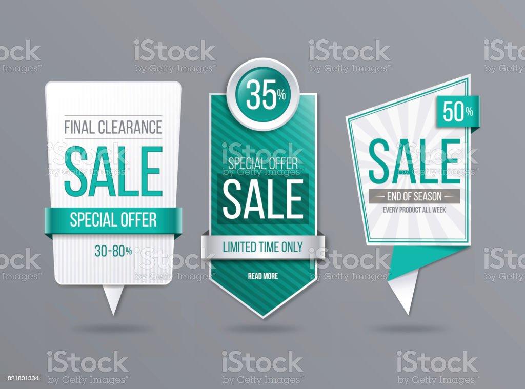 Sale banner template vector art illustration