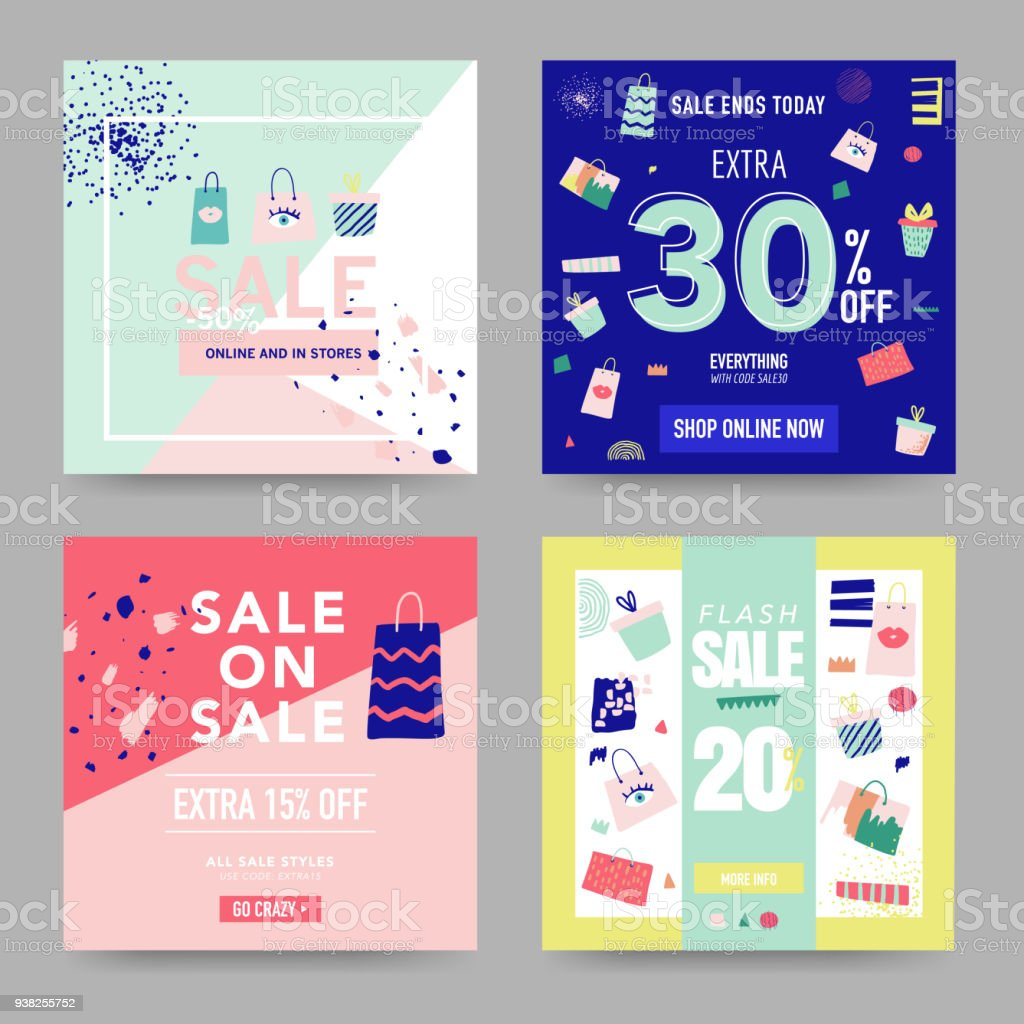 sale banner templates discount poster promo web design promotional