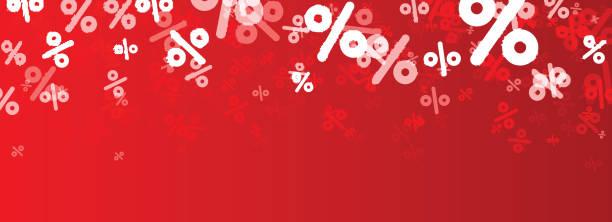 Sale banner with percent. – Vektorgrafik