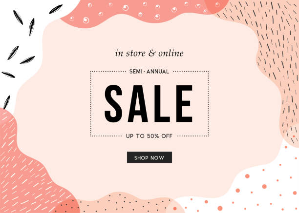 sale banner_08 - makeup fashion stock illustrations