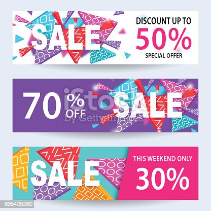 Sale banners discount coupons template set for online for Discount mobili on line
