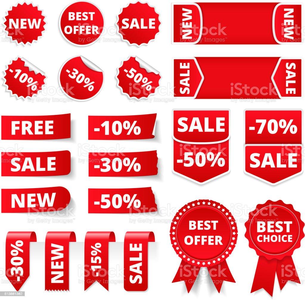 Banners de vendas - ilustração de arte em vetor