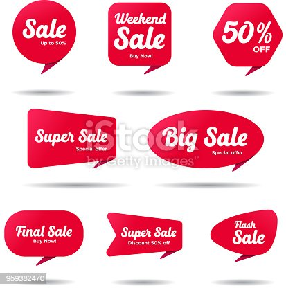 Set of 8 sale banners, banner designs
