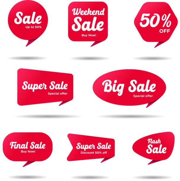 Bannières de vente - Illustration vectorielle