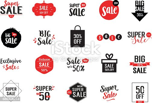 Set of Sale calligraphy with discount and decorative Cadre. Handwritten text, calligraphy. Can be used for posters, leaflets and brochure