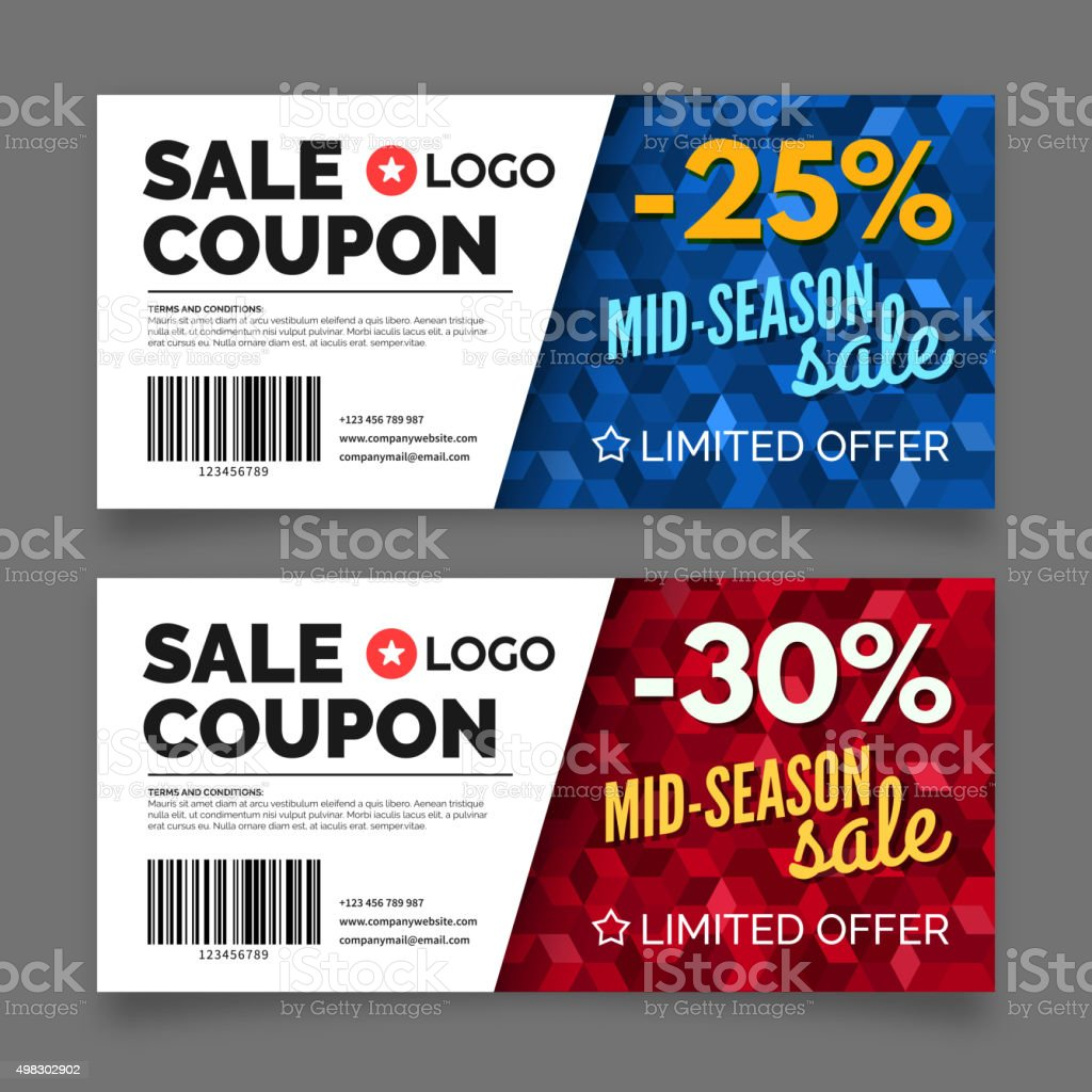 Sale coupon voucher template vector graphic design stock vector sale coupon voucher template vector graphic design royalty free sale coupon voucher template vector yelopaper Images