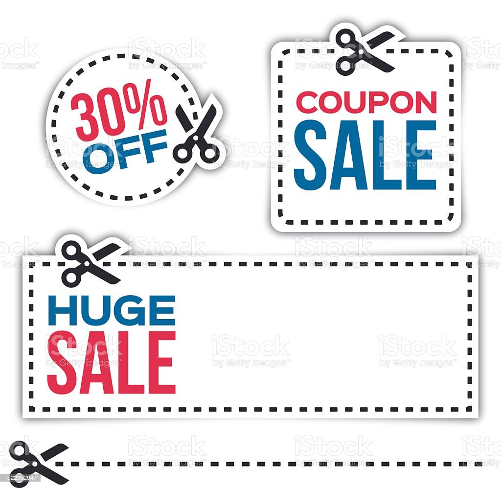 Sale Coupons vector art illustration