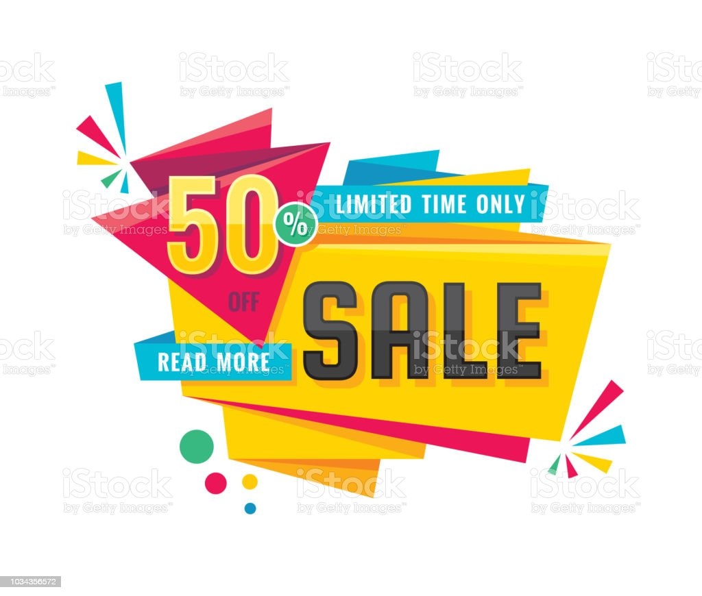 Sale Creative Banner Vector Illustration Abstract Concept