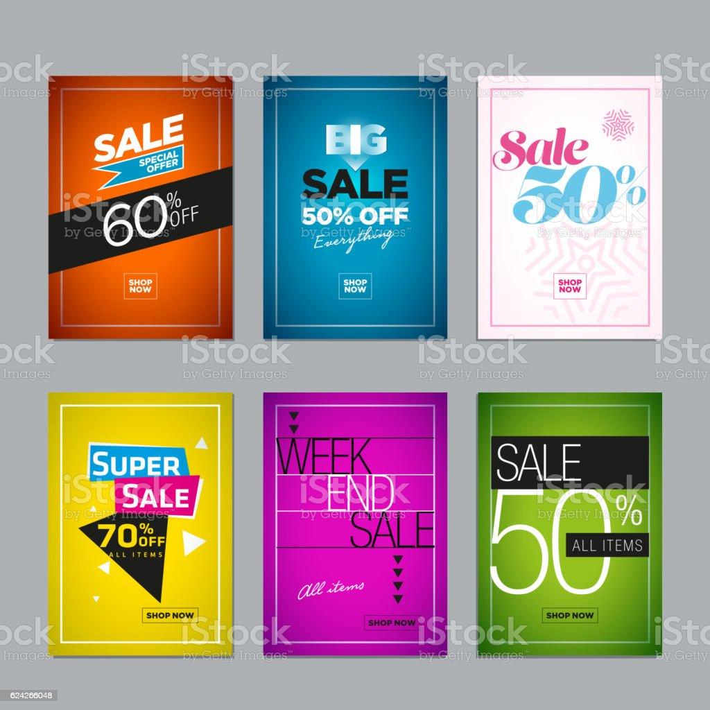 Sale Design Set vector art illustration
