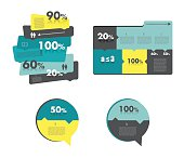 Sale diagram for infographics. Vector illustration.