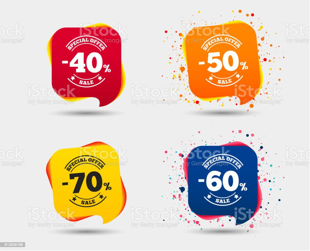 Sale-icons. Sonderangebot Preis der Beschilderung. – Vektorgrafik