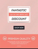 Sale, discount, online shopping banner, newsletter template
