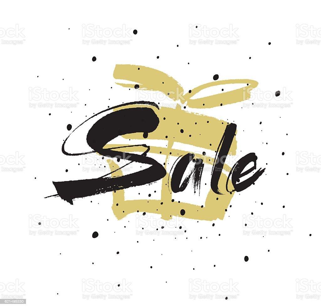 Sale. Drawn lettering. Sale vector typography. sale drawn lettering sale vector typography – cliparts vectoriels et plus d'images de affaires libre de droits