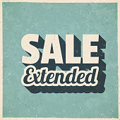 istock Sale Extended. Icon in retro vintage style - Old textured paper 1330516056