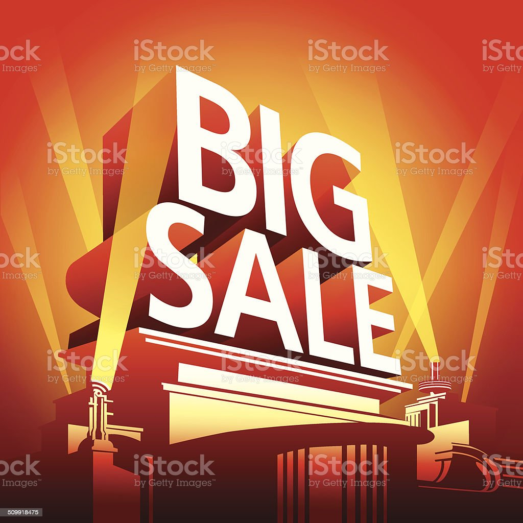 sale festival,big sale festival vector art illustration
