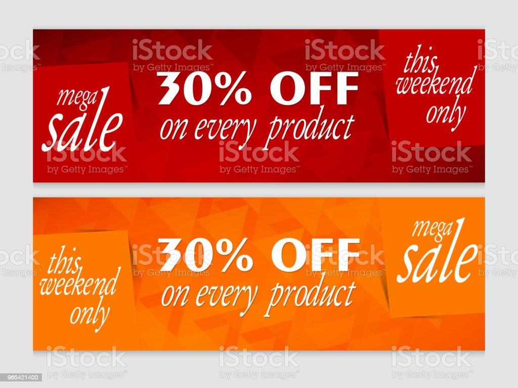 銷售標頭 - 免版稅互聯網圖庫向量圖形