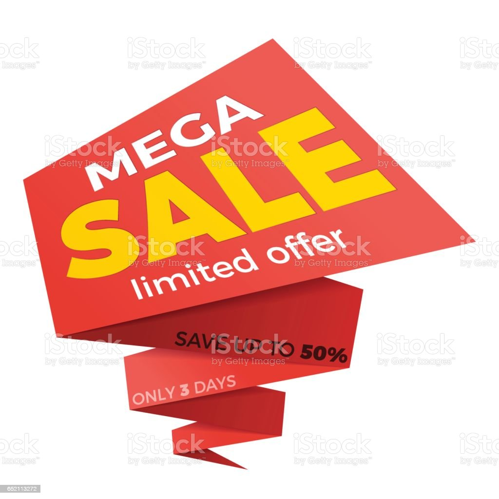 Sale Label Price Tag Banner Badge Template Sticker Design Stock