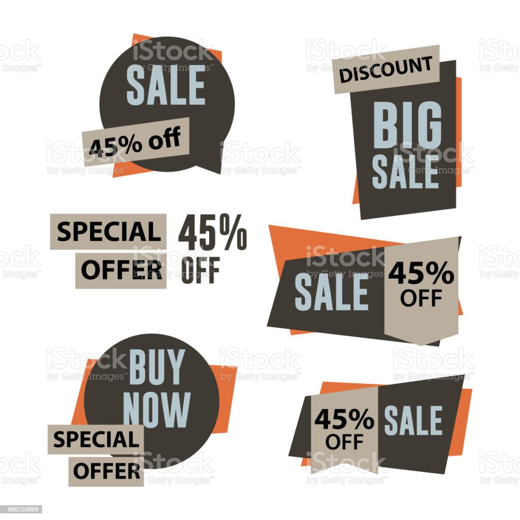Sale Label Set Vector Template Design royalty-free sale label set vector template design stock vector art & more images of 2015
