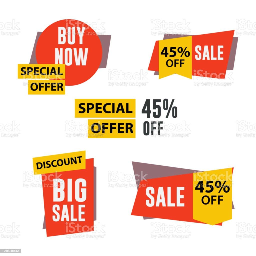 Sale Label Set Vector Template Design royalty-free sale label set vector template design stock vector art & more images of 2015