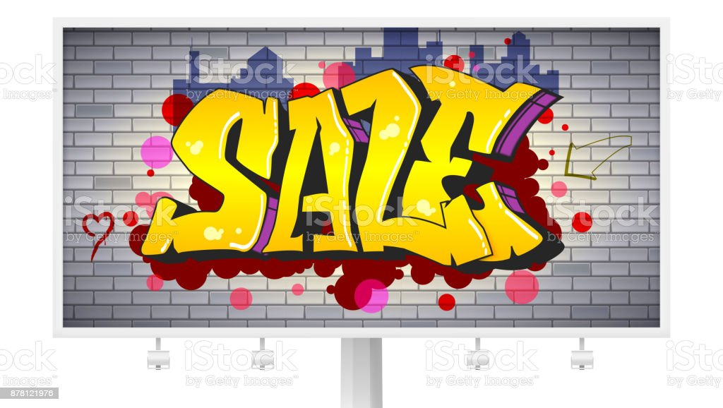 Sale Lettering In Hiphop Graffiti Style Urban Ad Horizontal ...