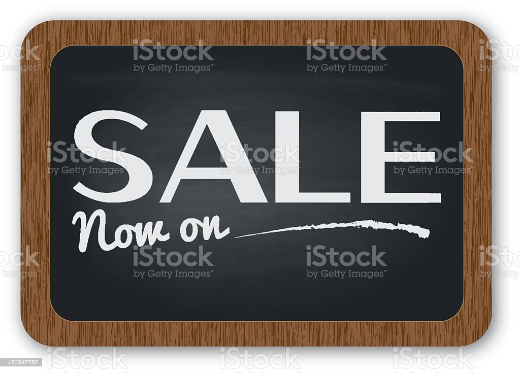 Sale now on sign royalty-free stock vector art