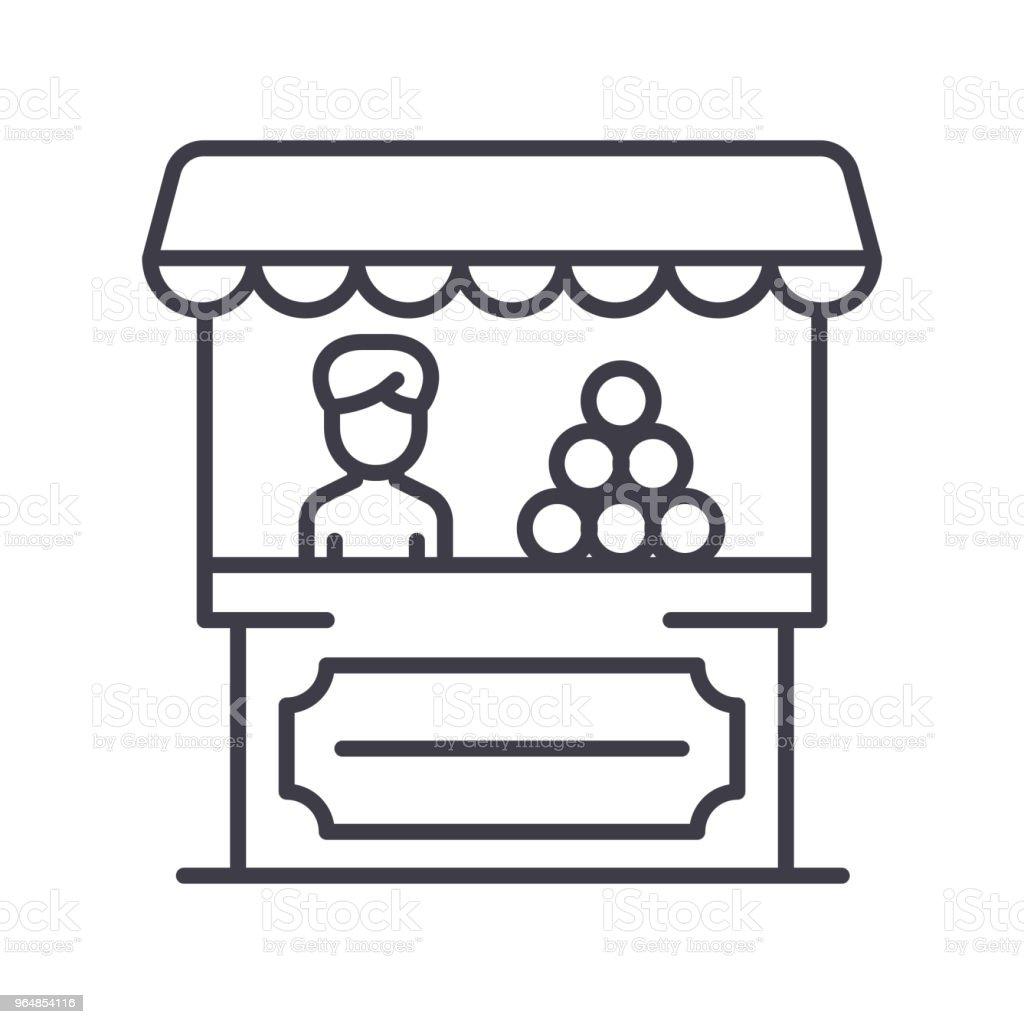 Sale of goods black icon concept. Sale of goods flat  vector symbol, sign, illustration. royalty-free sale of goods black icon concept sale of goods flat vector symbol sign illustration stock vector art & more images of bag